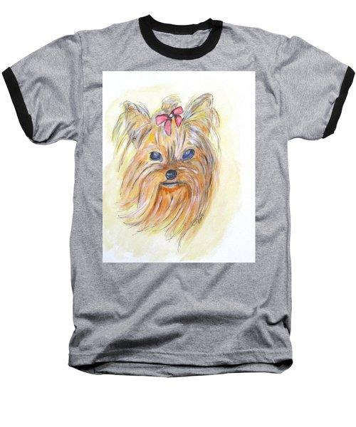 Pretty Girl Baseball T-Shirt by Clyde J Kell
