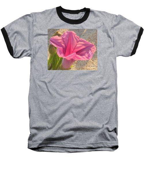 Pretty In Pink Baseball T-Shirt by LeeAnn Kendall