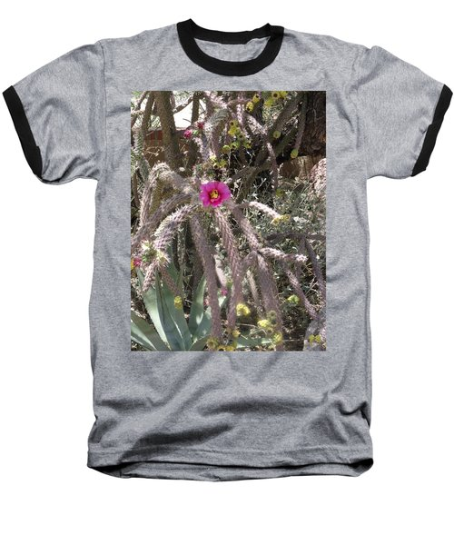 Flower Is Pretty In Pink Cactus Baseball T-Shirt