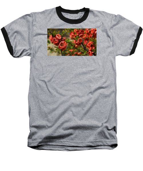 Baseball T-Shirt featuring the photograph Pretty In Red by Cameron Wood