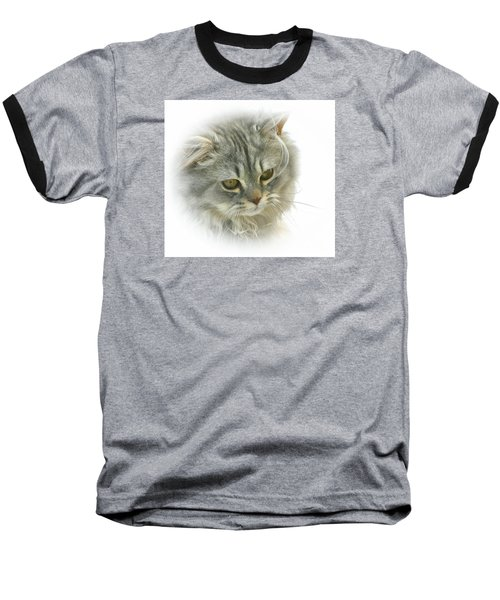 Pretty Kitty Baseball T-Shirt by Debbie Stahre