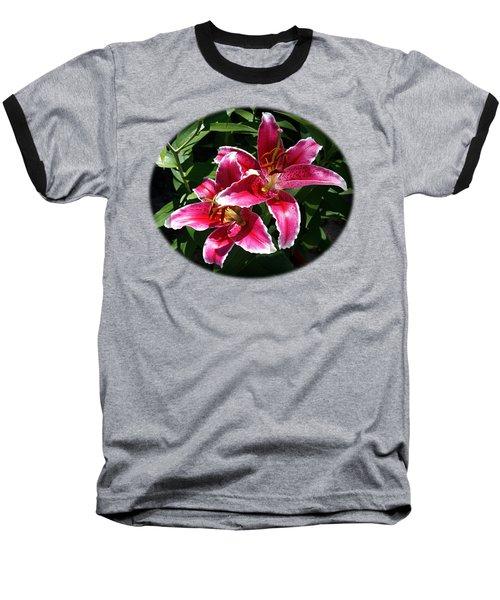 Pretty Lilies Baseball T-Shirt