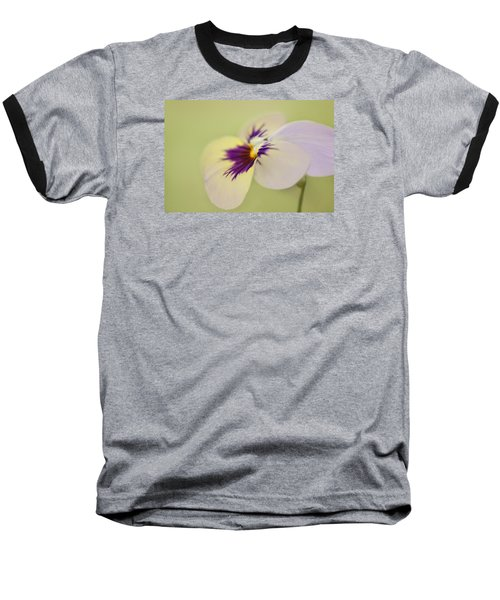 Pretty Pansy Macro Baseball T-Shirt