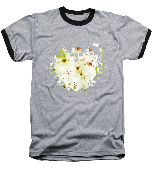 Pretty Pear Petals Baseball T-Shirt by Anita Faye