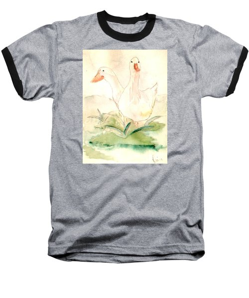 Baseball T-Shirt featuring the painting Pretty Pekins by Denise Tomasura