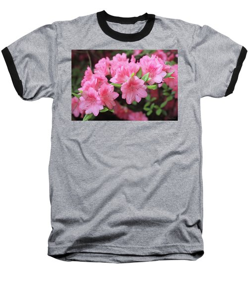 Pretty Pink Azalea Blossoms Baseball T-Shirt