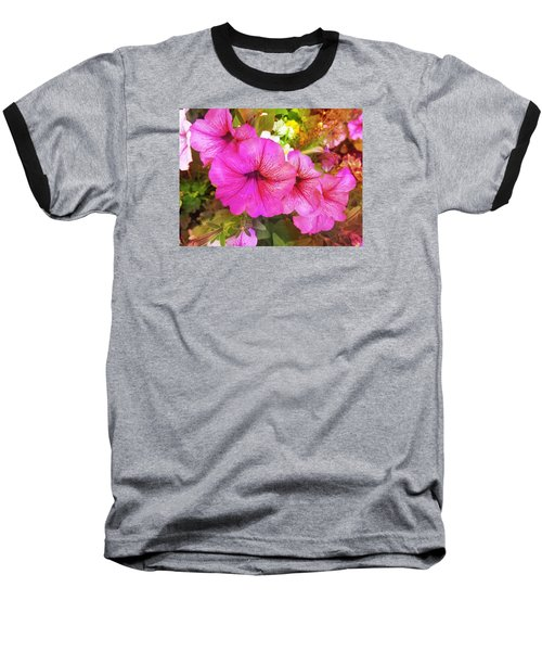 Pretty Pink Petunias Baseball T-Shirt