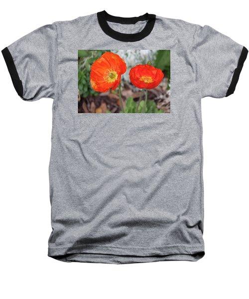 Pretty Poppies Baseball T-Shirt