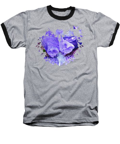 Pretty Purple Baseball T-Shirt by Anita Faye