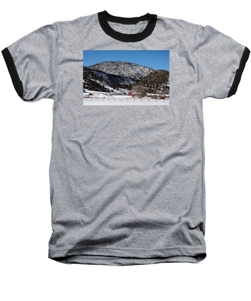 Pretty Red Barns From The Highway Between Aspen And Snowmass Baseball T-Shirt by Carol M Highsmith