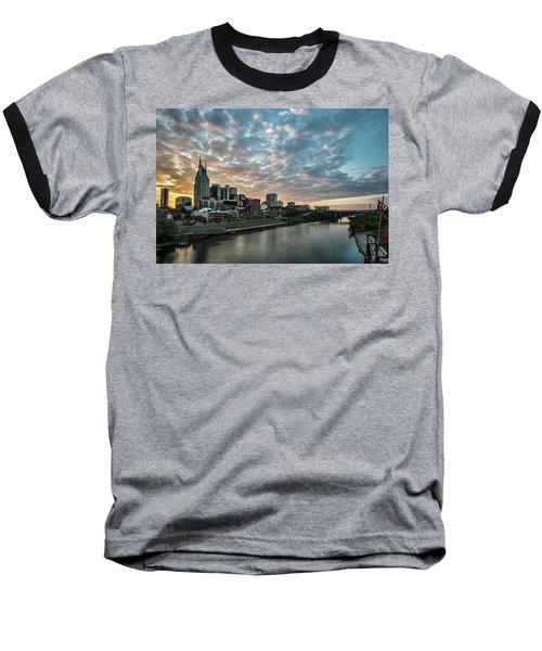 Pretty Sky And Nashville Skyline Baseball T-Shirt