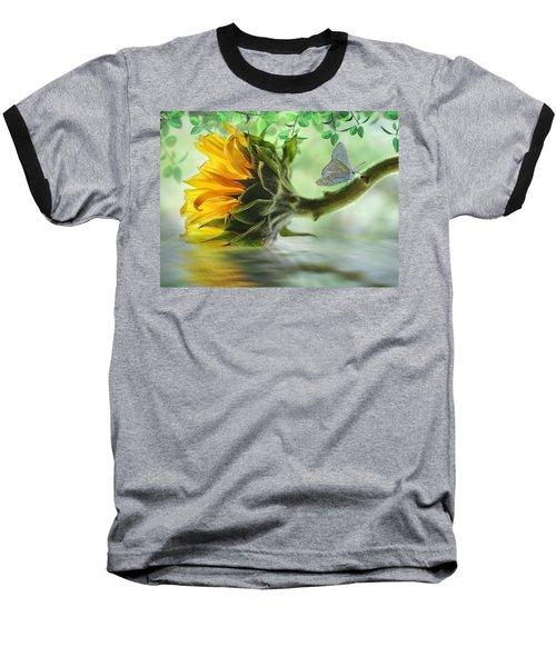 Pretty Sunflower Baseball T-Shirt by Nina Bradica