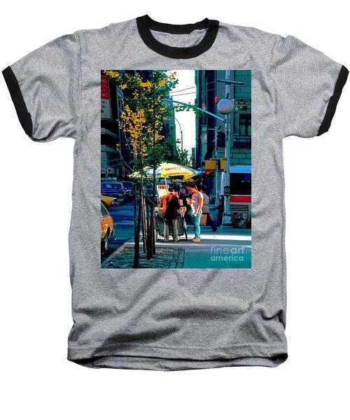Hot Dog Stand Nyc Late Afternoon Ik Baseball T-Shirt