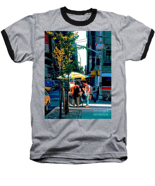 Hot Dog Stand Nyc Late Afternoon Ik Baseball T-Shirt