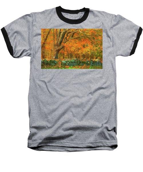 Preuss Road Stone Wall Baseball T-Shirt