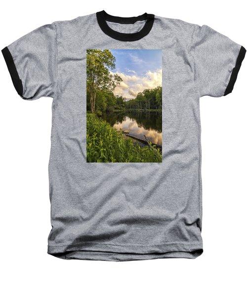 Price Lake Sunset - Blue Ridge Parkway Baseball T-Shirt