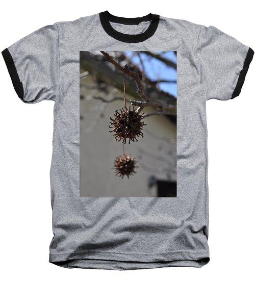 Prickly Liquidamber Pod Baseball T-Shirt