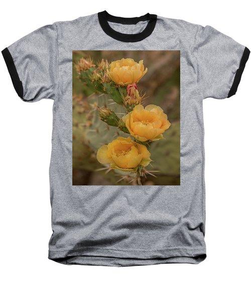 Prickly Pear Blossom Trio Baseball T-Shirt