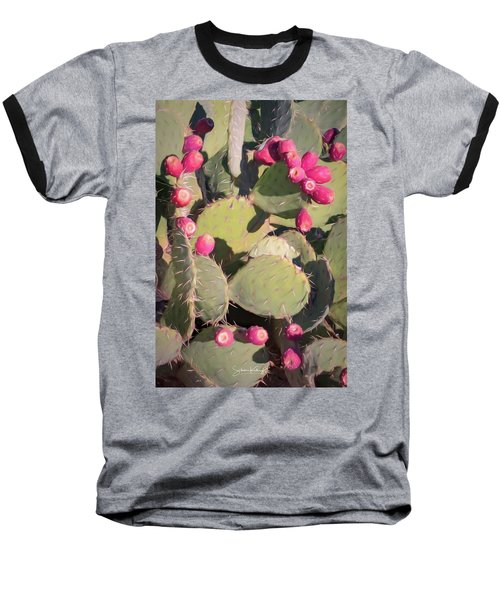 Prickly Pear Cactus Baseball T-Shirt