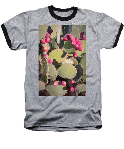 Prickly Pear Cactus Baseball T-Shirt