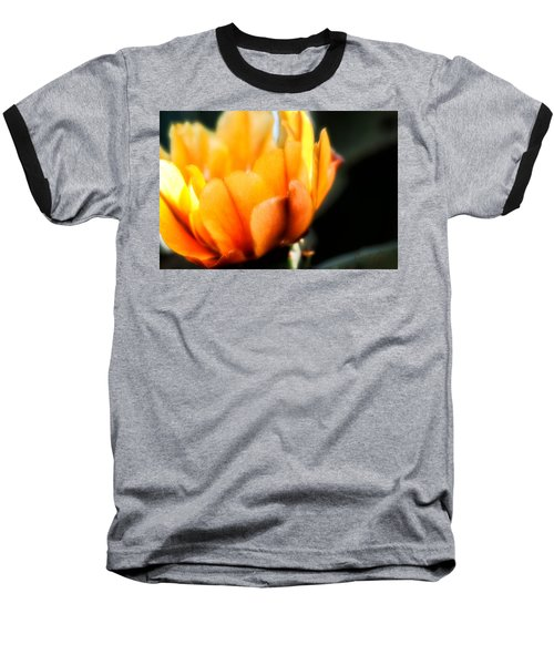 Baseball T-Shirt featuring the photograph Prickly Pear Flower by Lynn Geoffroy