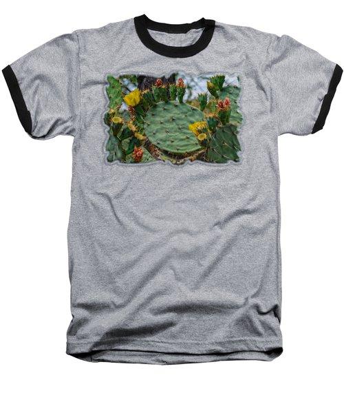 Prickly Pear Flowers H35 Baseball T-Shirt