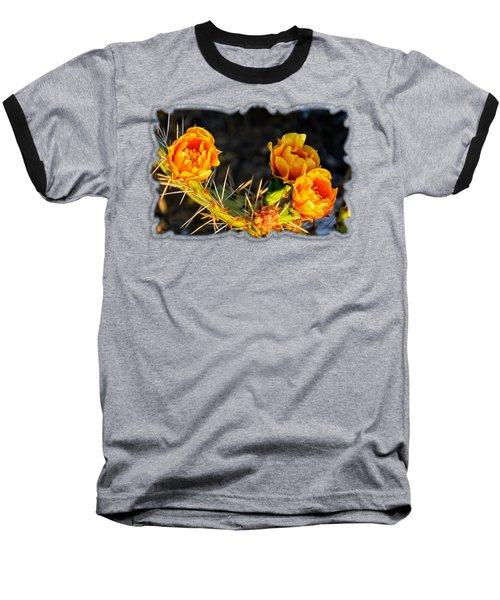 Prickly Pear Flowers Op49 Baseball T-Shirt