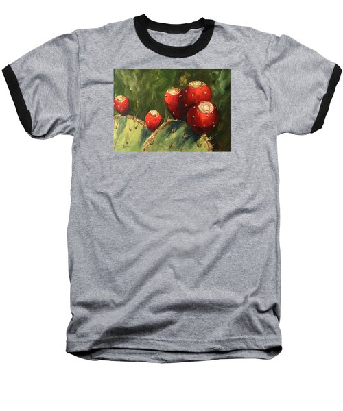 Prickly Pear IIi Baseball T-Shirt by Torrie Smiley