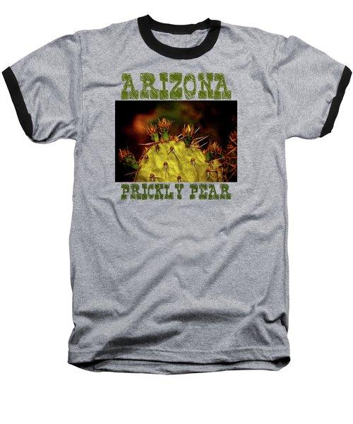 Prickly Pear Spring Baseball T-Shirt by Roger Passman