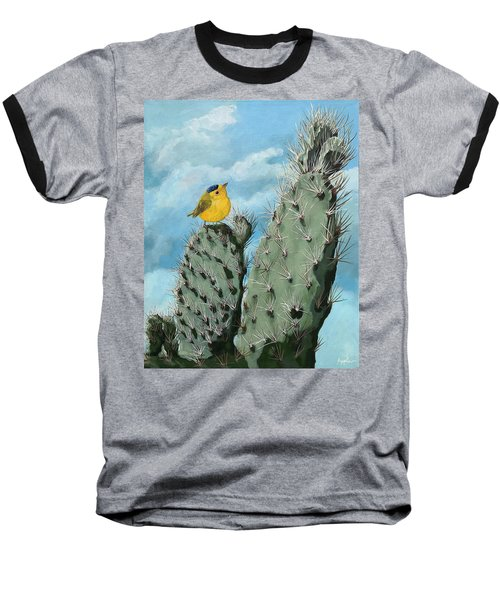 Prickly View - Wildlife Painting Baseball T-Shirt