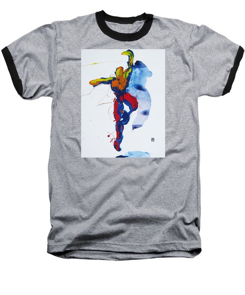 Primary Vertical Jump Shadow Baseball T-Shirt by Shungaboy X
