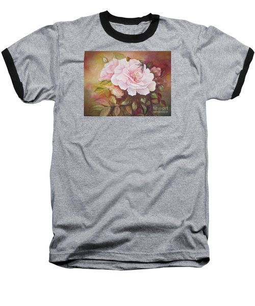 Baseball T-Shirt featuring the painting Primrose by Patricia Schneider Mitchell