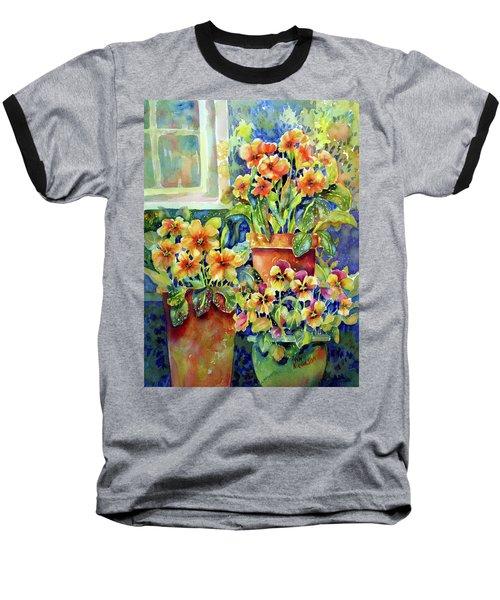 Primroses And Pansies II Baseball T-Shirt