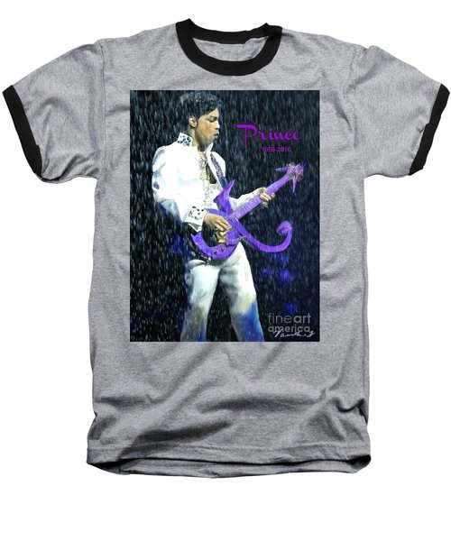 Prince 1958 - 2016 Baseball T-Shirt by Vannetta Ferguson