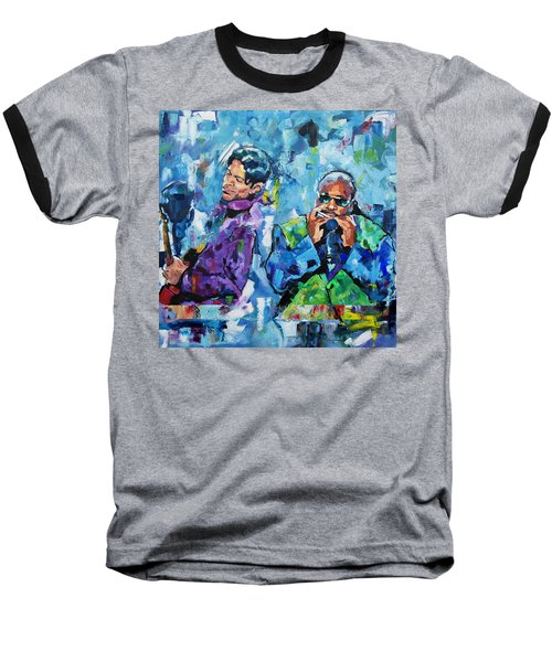 Baseball T-Shirt featuring the painting Prince And Stevie by Richard Day