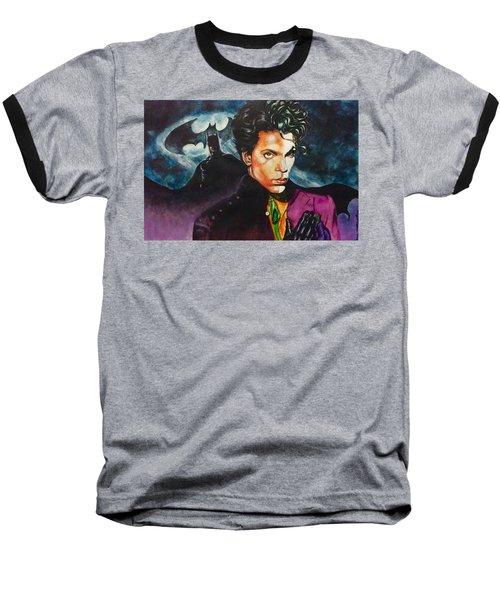 Prince Batdance Baseball T-Shirt by Darryl Matthews