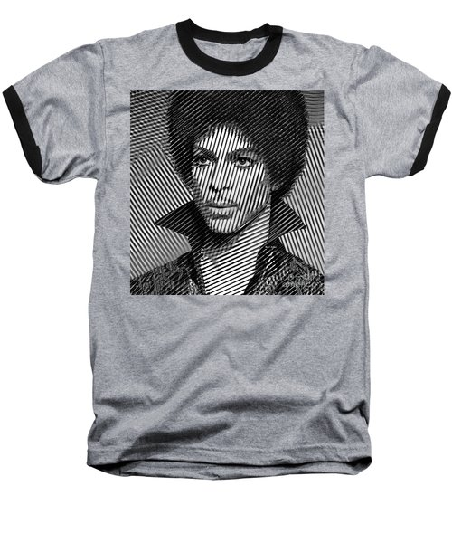 Prince - Tribute In Black And White Sketch Baseball T-Shirt
