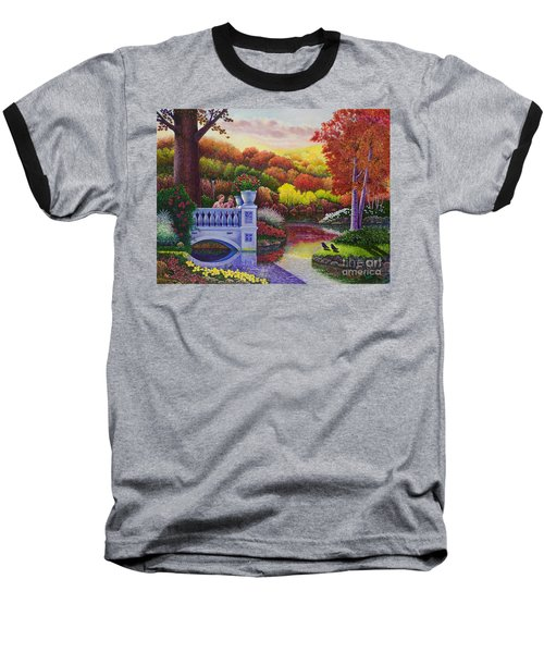 Princess Gardens Baseball T-Shirt by Michael Frank