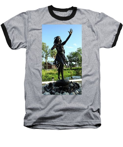 Princess Ulele Statue Baseball T-Shirt by Judy Wanamaker