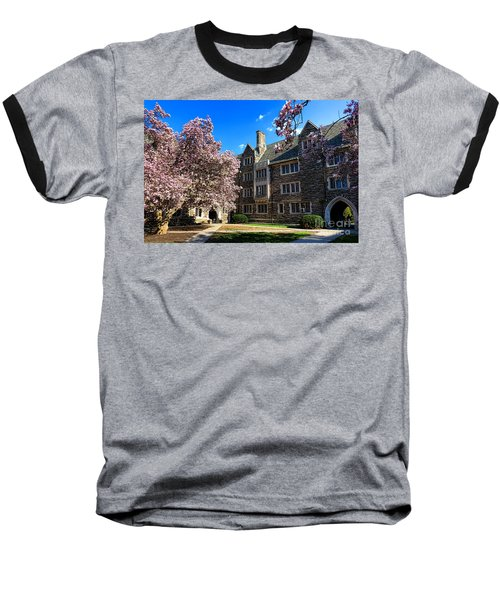 Princeton University Pyne Hall Courtyard Baseball T-Shirt
