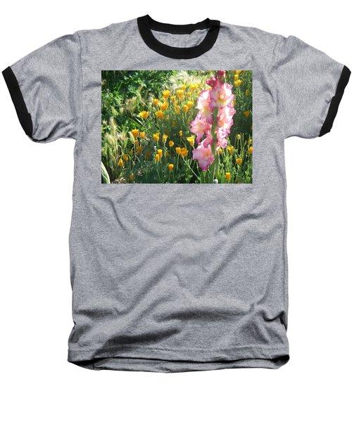 Priscilla With Poppies Baseball T-Shirt