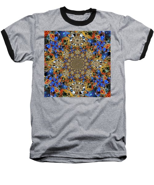 Prismatic Glasswork Baseball T-Shirt by Nick Heap