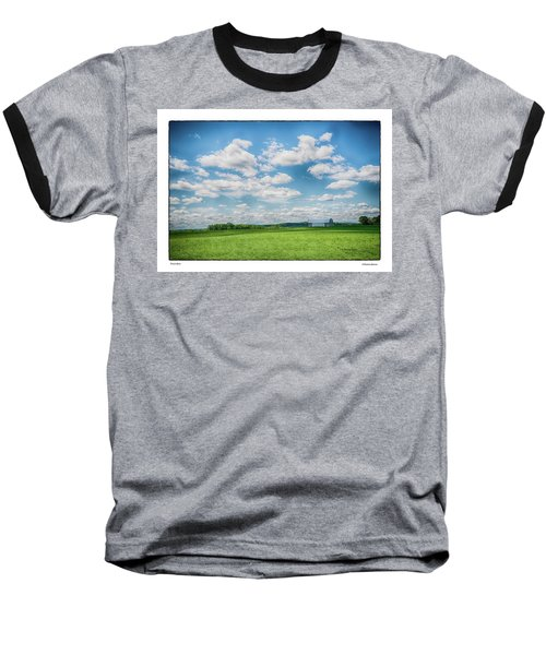 Prison Barn Baseball T-Shirt by R Thomas Berner