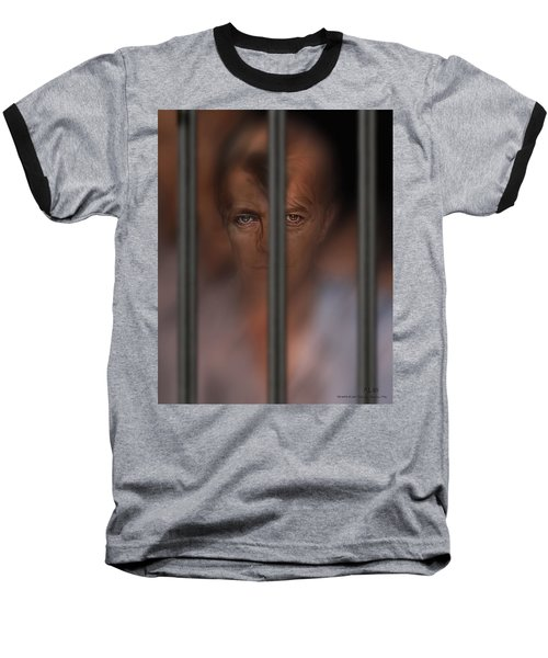 Baseball T-Shirt featuring the digital art Prisoner Of Love by Pedro L Gili