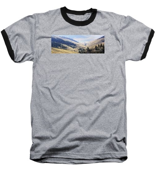 Pristine Panorama- National Bison Range, Montana Baseball T-Shirt by Janie Johnson