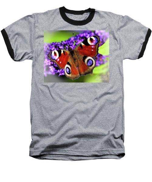 Pristine Peacock Baseball T-Shirt