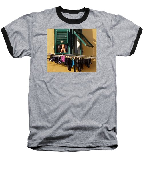 Private Moments Baseball T-Shirt by Amelia Racca