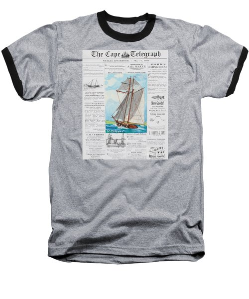 Privateer Off Charleston, Sc Baseball T-Shirt by Bill Hubbard