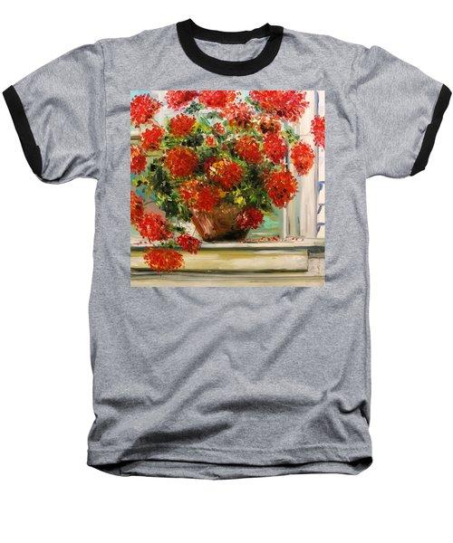 Prize Geranium Baseball T-Shirt