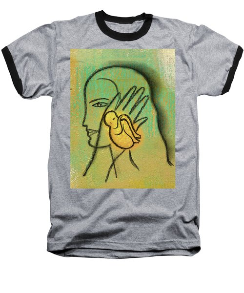 Baseball T-Shirt featuring the painting Pro Abortion Or Pro Choice? by Leon Zernitsky